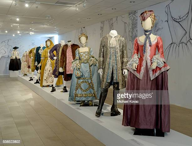"""View of costumes from """"Outlander"""" on display at The Paley Center for Media presents The Artistry of """"Outlander"""" at The Paley Center for Media on June..."""