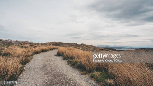 view of country road, portree, scotland, uk - country road stock pictures, royalty-free photos & images