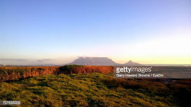 view of countryside landscape against clear blue sky - howard,_wisconsin stock pictures, royalty-free photos & images