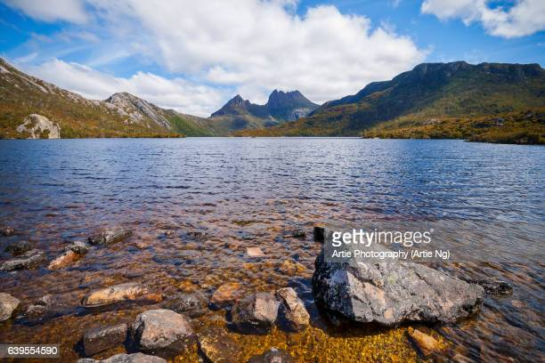 View of Cradle Mountain in the Cradle Mountain-Lake St Clair National Park, Central Highlands Region of Tasmania, Australia