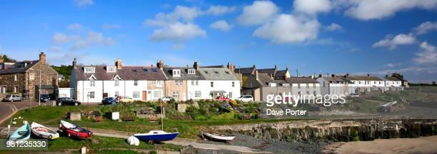 View of Craster village, North Northumberland Coast, England, Br