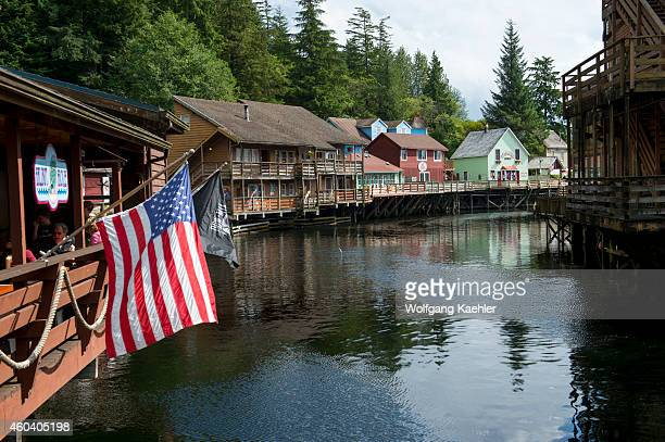 View of Creek Street the former Red Light district in Ketchikan Southeast Alaska USA
