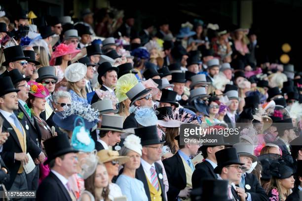 View of crowds on day five of Royal Ascot at Ascot Racecourse on June 22, 2019 in Ascot, England.