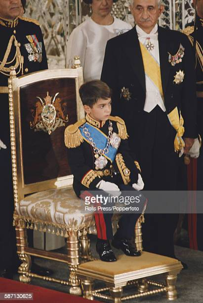 View of Crown Prince Reza Pahlavi attending the coronation of his father Mohammad Reza Pahlavi as Shah of Iran in Tehran Iran on 26th October 1967
