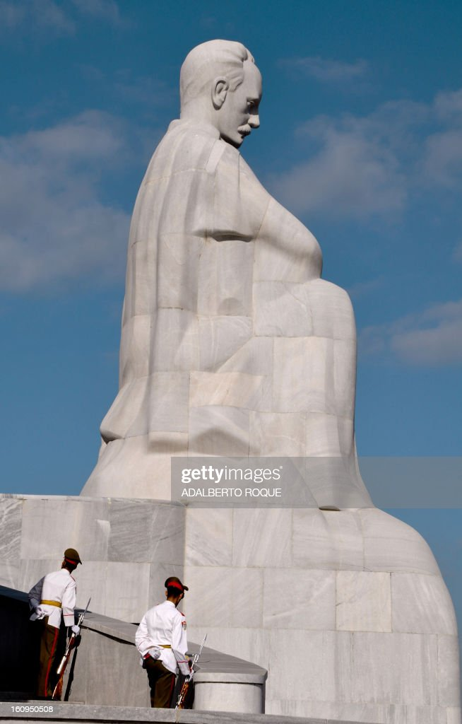 View of Cuban National Hero Jose Marti monument, at Revolution Square in Havana, on February 26, 2010.