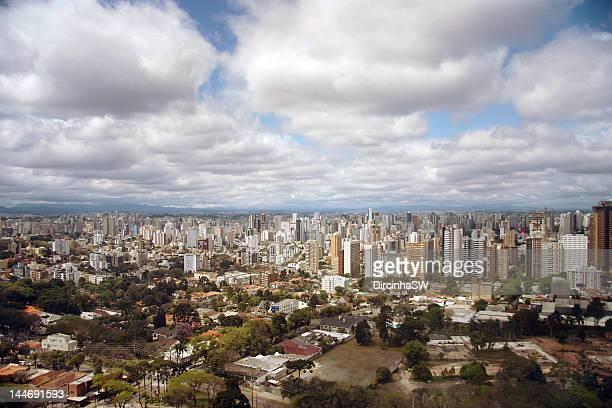 view of curitiba - curitiba stock pictures, royalty-free photos & images