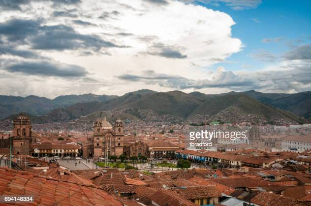 View Of Cusco In Peru