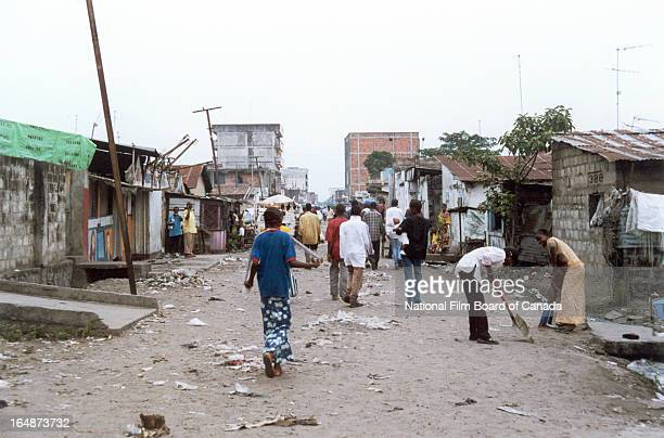 View of daily life on the streets of Kinshasa Democratic Republic of the Congo 2003 Photo taken during the National Film Board of Canada's production...