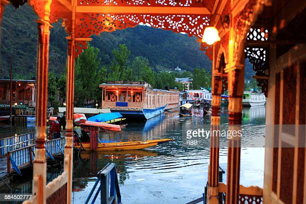 View of Dal Lake from House Boat Balcony