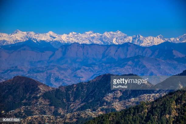 A view of Dalhousie town of Chamba District Himachal Pradesh India 22 Jan2018The Dalhousie is a hill station in Himachal Pradesh established in 1854...