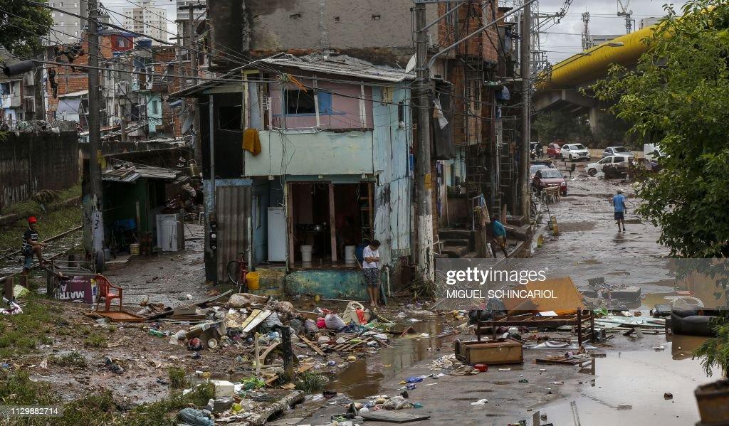 BRAZIL-WEATHER-FLOODS : News Photo