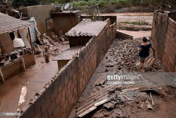 View of damages caused by the overflowing of Das Velhas River following torrential rains, in Sabara, in the metropolitan region of Belo Horizonte,...