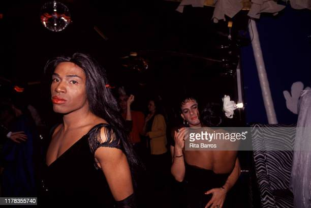View of dancers on the dancefloor at El Morocco nightclub, New York, New York, 1988.