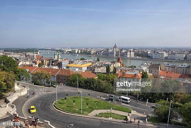 view of danube river from castle district,budapest - emreturanphoto stock pictures, royalty-free photos & images