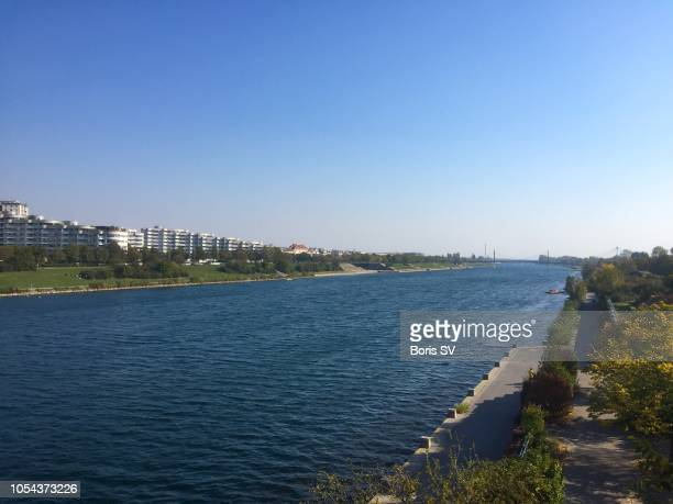 View of Danube River in Vienna