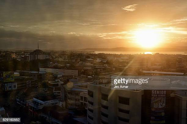 A view of Davao city as seen from a hotel room window on May 08 2016 in Davao City Mindanao Philippines Davao is a diverse city in the Philippine...