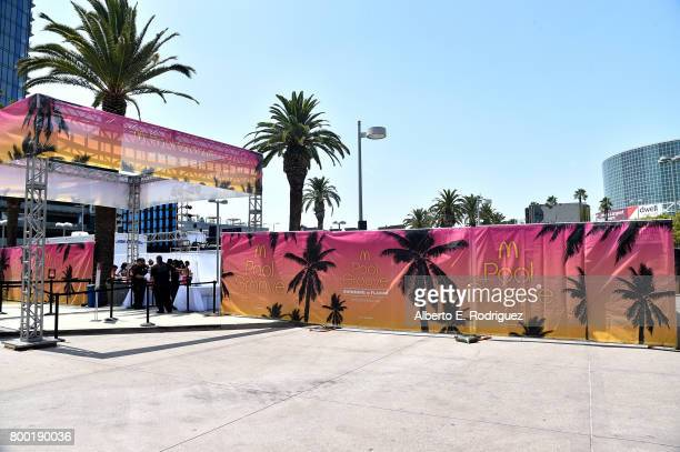 View of day one of the Pool Groove, sponsored by McDonald's, during the 2017 BET Experience at Gilbert Lindsey Plaza on June 23, 2017 in Los Angeles,...