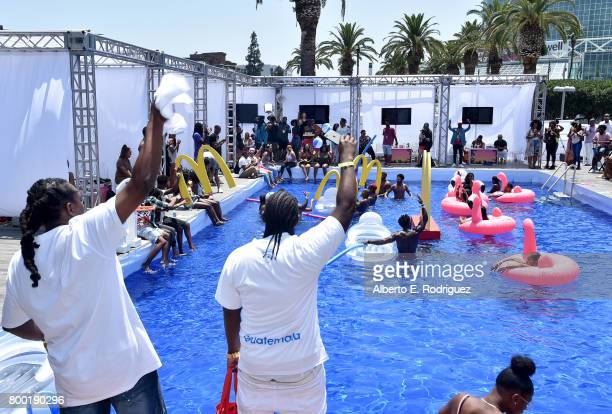 A view of day one of the Pool Groove sponsored by McDonald's during the 2017 BET Experience at Gilbert Lindsey Plaza on June 23 2017 in Los Angeles...