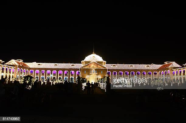 A view of decorated High court building ahead of 150th anniversary celebration in Allahabad Allahabad Highcourt celebrate 150th anniversary on 13th...