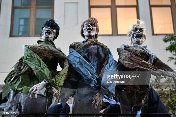 A view of decorations during the 44th Annual Village Halloween Parade on October 31 2017 in New York City