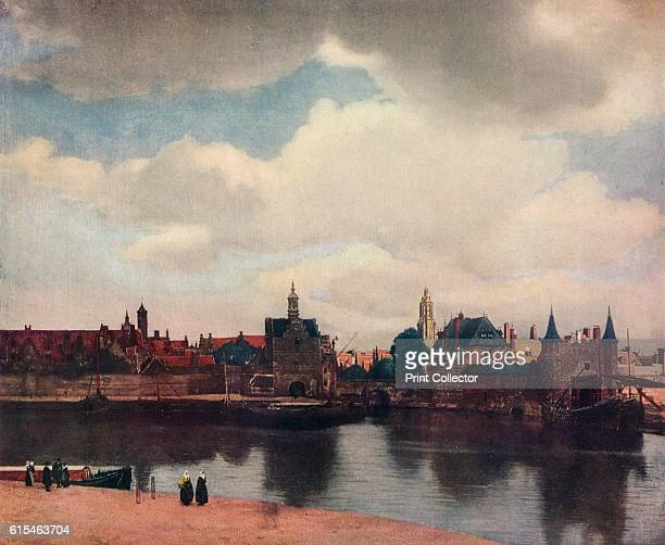 View of Delft from the Rotterdam Canal' 166061 Painting of the Dutch artist's hometown is among his most popular painted at a time when cityscapes...