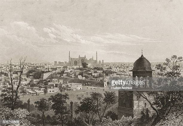 A view of Delhi seen from one of the gates of the Red Fort India circa 1859 Original publication 'The History of the Indian Mutiny' Volume V by...