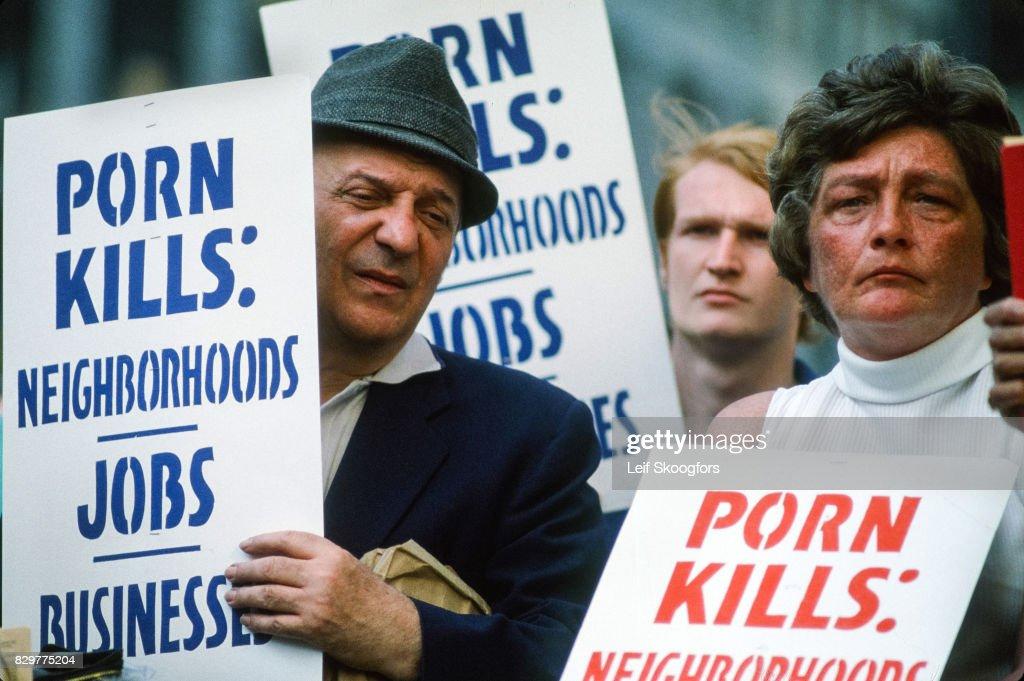 Times Square Anti-Pornography Protest : News Photo
