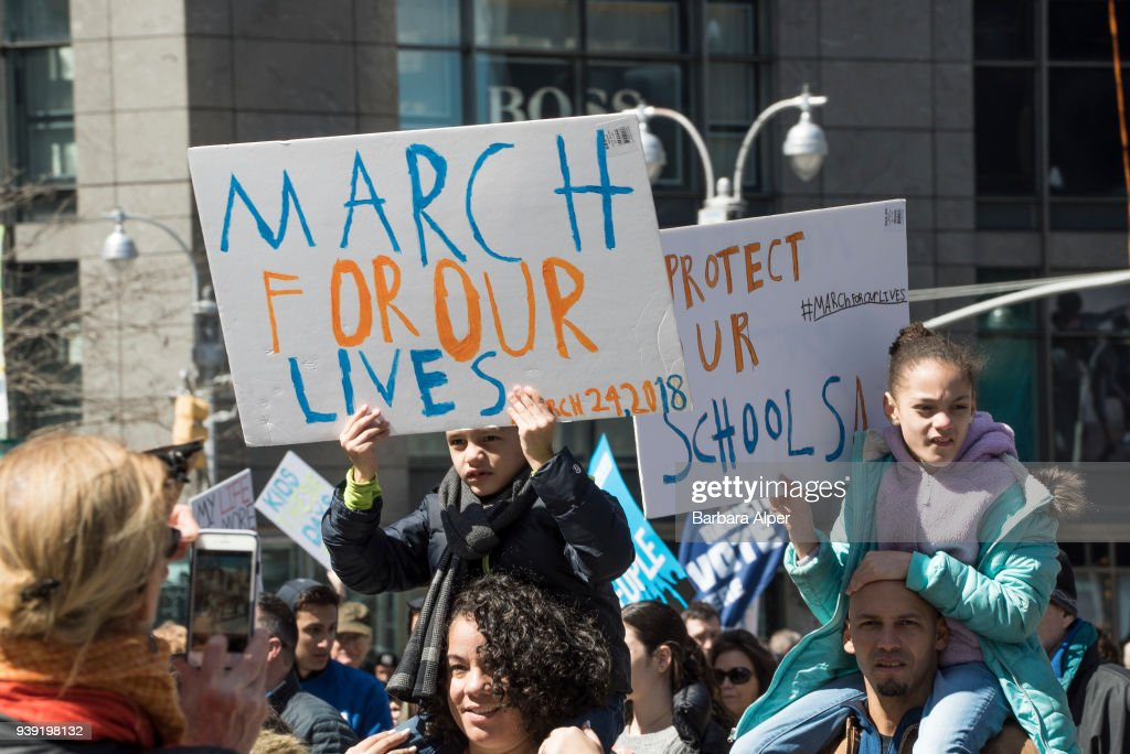 Demonstrators At March For Our Lives Rally : ニュース写真
