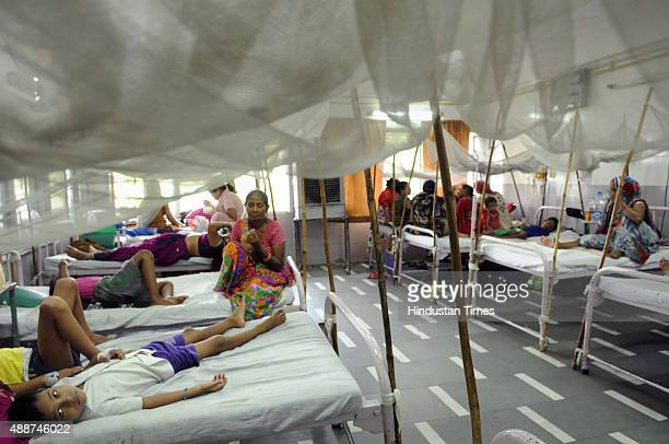 A view of Dengue ward at Hindu Rao Hospital on September 17 2015 in New Delhi India Delhi remained in the grip of panic over dengue as two minor...