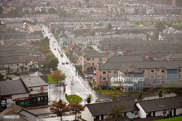 View of Derry a historical city in Northern Ireland. This quater is the Bogside.