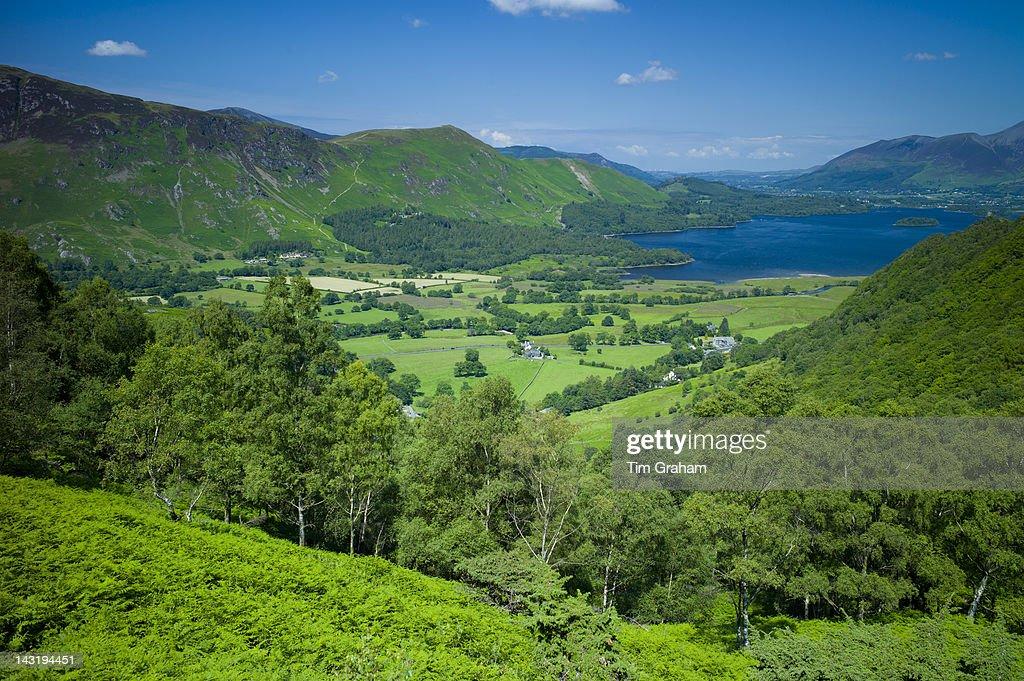 Derwent Fells and Derwent Water, The Lake District, UK : News Photo