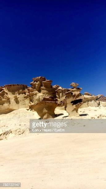view of desert against clear blue sky - conor stock pictures, royalty-free photos & images