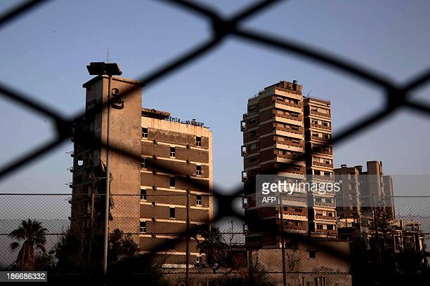 View of deserted buildings of the tourist area of Varosha, in the fenced off area of Famagusta, in the Turkish-occupied north of the divided eastern...