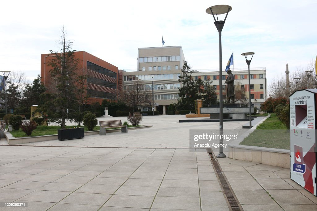 Coronavirus precautions in Kosovo : ニュース写真