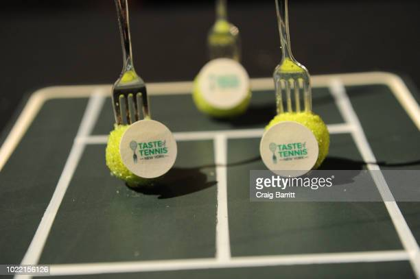 View of desserts during the Citi Taste Of Tennis gala on August 23 2018 in New York City