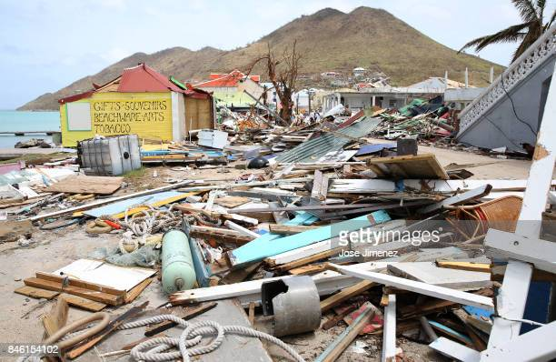 View of destruction in Grande Case Saint Martin days after this Caribbean island sustained extensive damage after the passing of Hurricane Irma on...