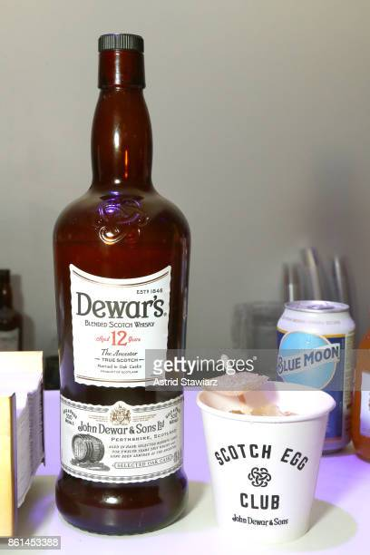 A view of Dewar's Blended Scotch Whisky served during Street Eats hosted by Ghetto Gastro at Industria on October 14 2017 in New York City