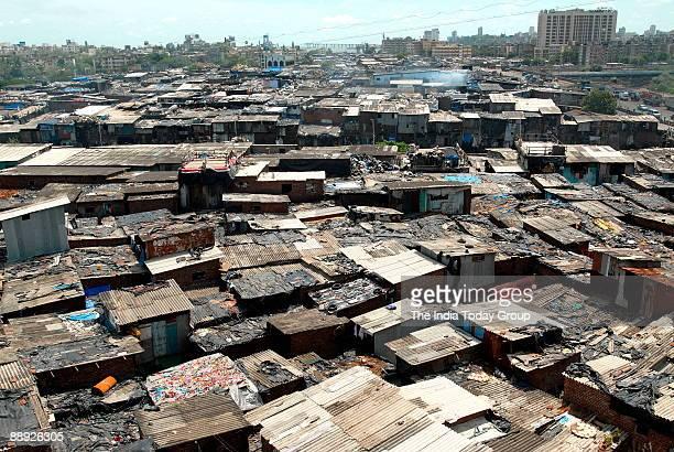 View of Dharavi, the Asia's largest slum in Mumbai, India.
