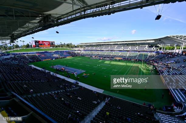 View of Dignity Health Sports Park before LA Wildcats played Tampa Bay Vipers in an XFL game on March 8 2020 in Carson California LA won 4134
