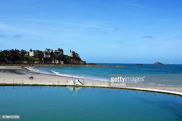 view of dinard france - dinard stock pictures, royalty-free photos & images