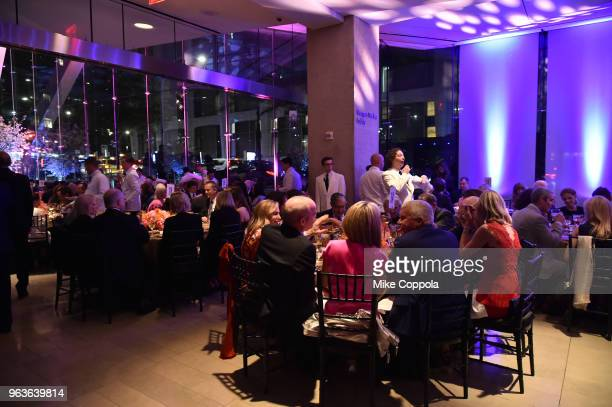 View of dinner during Lincoln Center's American Songbook Gala at Alice Tully Hall on May 29 2018 in New York City