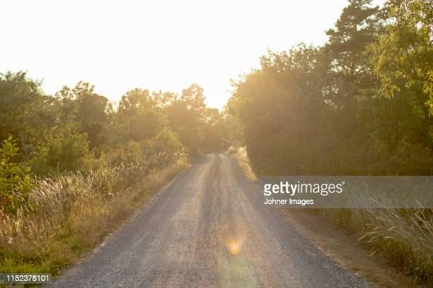 view of dirt track - エーランド ストックフォトと画像