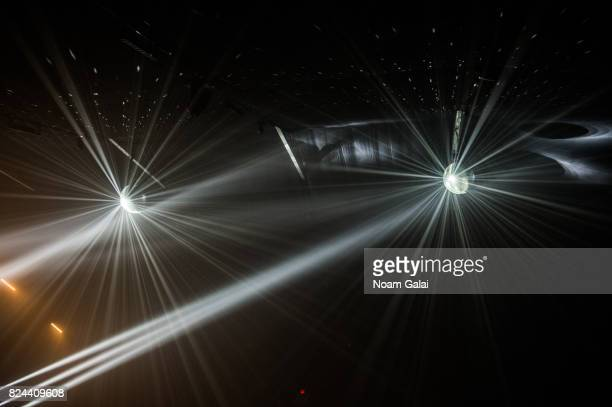 A view of disco balls at the 2017 Panorama Music Festival at Randall's Island on July 29 2017 in New York City