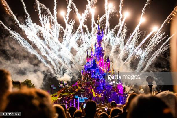 A view of Disney Illuminations at Disneyland Paris in Paris France on September 14 2019 Disneyland Paris is one of Europe's most popular attractions...