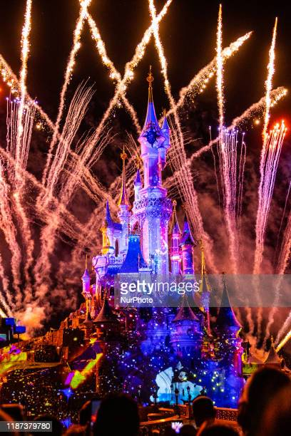 View of Disney Illuminations at Disneyland Paris, in Paris, France, on September 14, 2019. Disneyland Paris is one of Europe's most popular...