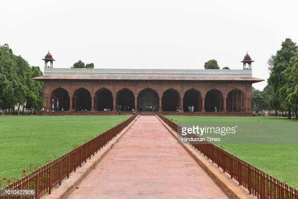 A view of DiwaniAm inside the Red Fort at Chandni Chowk on August 2 2018 in New Delhi India