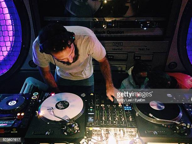 View Of Dj At Work