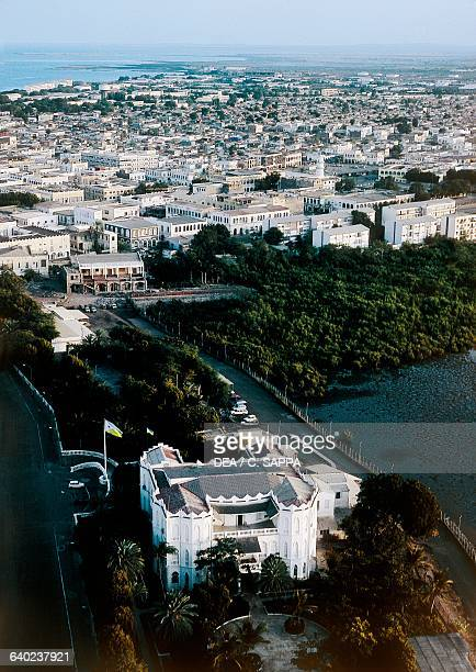 View of Djibouti the Presidential Palace in the foreground Republic of Djibouti