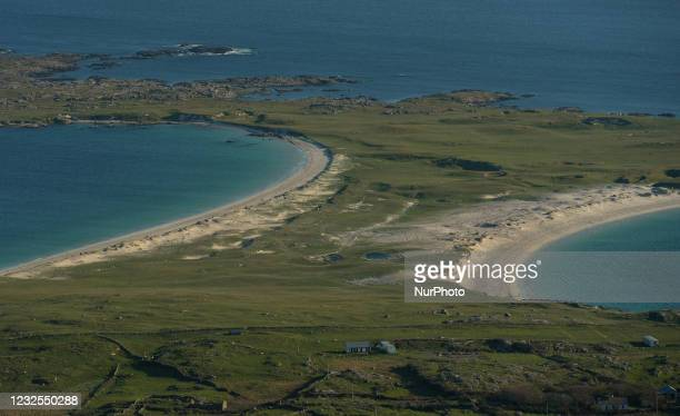 View of Dog's Bay and Gurteen Bay seen from Errisbeg hill. From today, Ireland is easing certain restrictions, including the reopening of outdoor...
