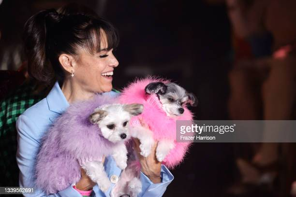 View of dogs on the runway for Christian Cowan NYFW Spring/Summer '22 Show during NYFW: The Shows at Gallery at Spring Studios on September 10, 2021...
